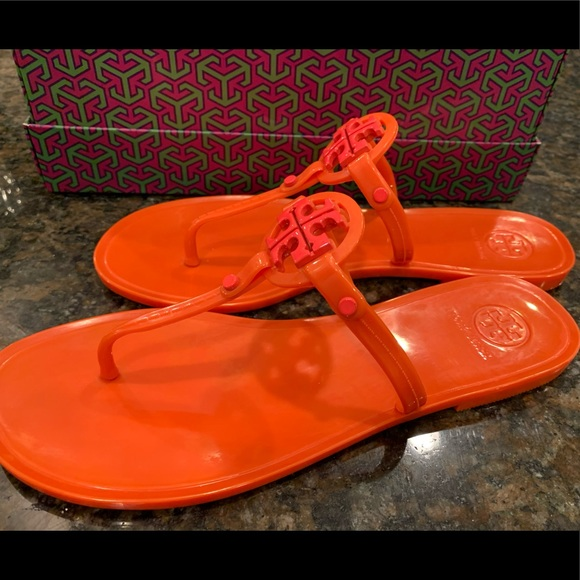 Tory Burch Mini Miller Jelly Sandals - Size 8